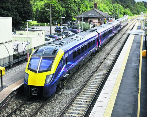 Bicester Advertiser: A First Great Western Class 180 Adelante train at Charlbury station