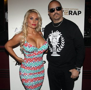 Ice T and wife Coco at the European premiere of The Art Of Rap at London's Hammersmith Apollo