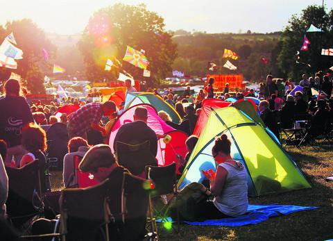 A sunny evening at last summer's Cropredy Festival