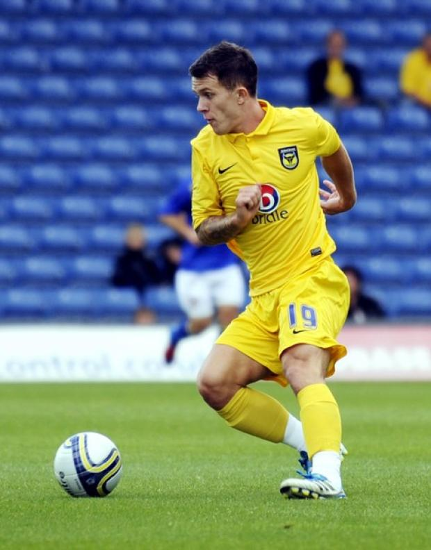 Midfielder Lee Cox is enjoying his time on loan at Oxford United