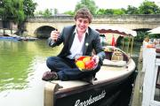 Nick Holzherr at Folly Bridge to launch the Foodies Festival.