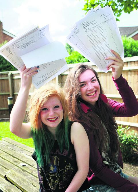 Wallingford School pupils Hattie Bush and Sarah Hirst share their news. Picture: OX53291 Antony Moore