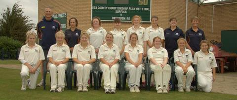 Oxfordshire's women line up before their win over Suffolk