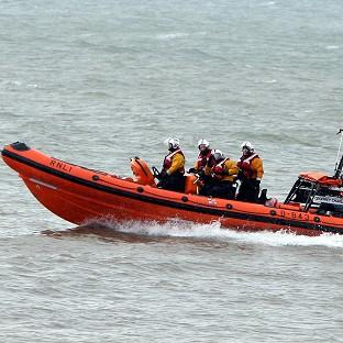 RNLI crew rescued one of the children off the Cornwall coast