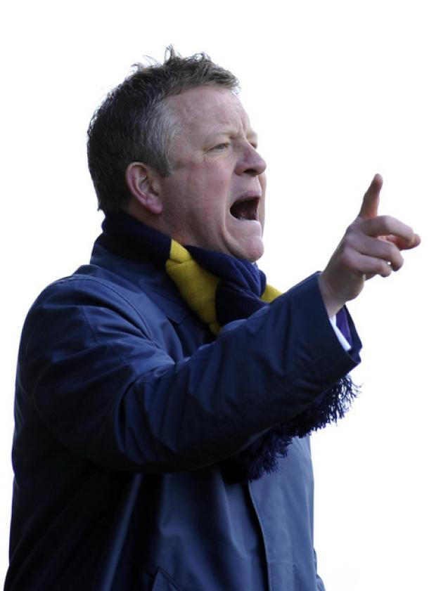 Bicester Advertiser: Chris Wilder pictured during last season's Kassam Stadium derby