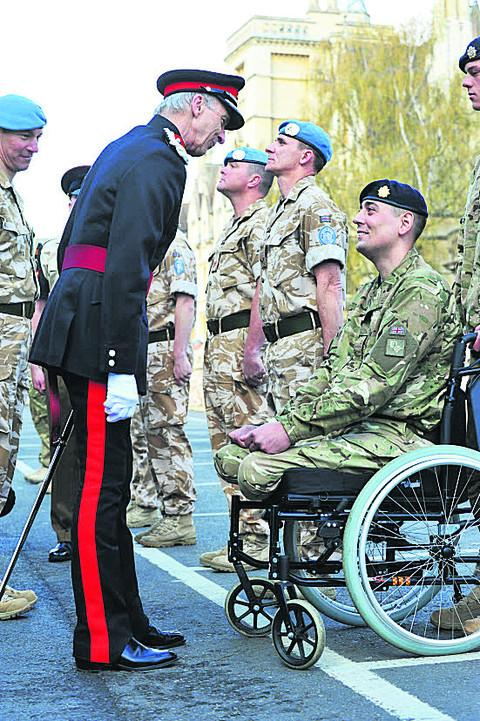 In April Private Craig Winspear was awarded his Afghanistan Operational Service Medal by the Vice Lord Lieutenant of Oxfordshire John Harwood