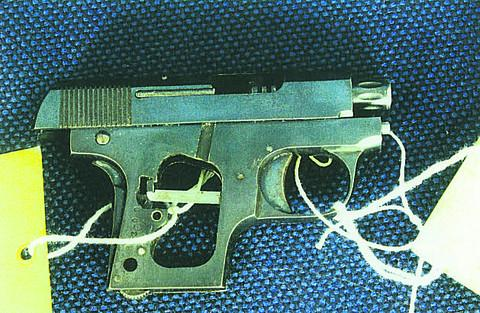 Police initially wrongly identified this firearm as a starter's pistol