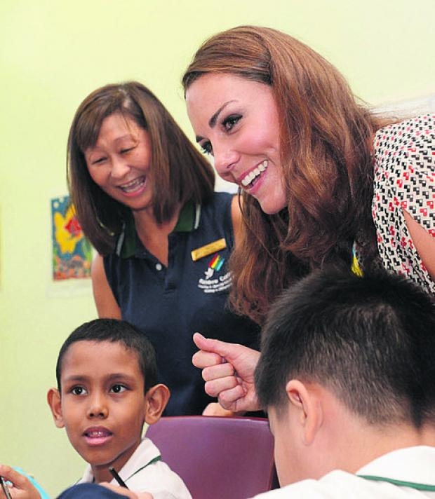 The Duchess of Cambridge pictured during her visit to Singapore