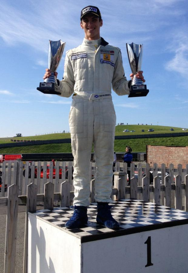 Sean Walkinshaw with his two trophies