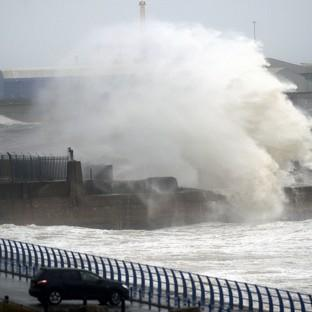 Bicester Advertiser: Giant waves at Sunderland as the country is hit by gale force winds