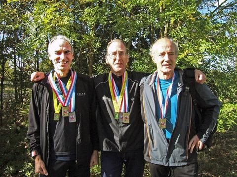 Oxford City veterans (from left): Stewart Thorp, Roy Treadwell, John Exley