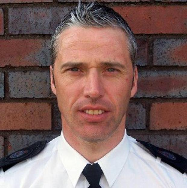 Pc David Williams was one of four West Mercia officers who risked their lives to save a couple from a burning car (West Mercia Police/PA)