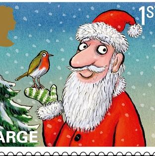 New Christmas stamps feature traditional scenes and characters including Santa, a reindeer and a robin