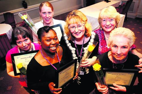 Bicester Advertiser: From left, Michelle Rogers, Adizat Olomoshua, Emma Sanders, Samantha Bell, Meg Barbour and Carole Whiteman