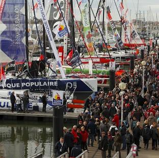 A general view of the regatta village in Les Sables d'Olonne, western France ahead of the start of the Vendee Globe yacht race