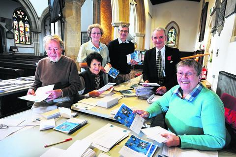 Bicester Advertiser: Left to right, Colin Duckworth, Christine Styles, Janette Hathaway, Matthew Clements, Laurie Ekins and the Rev Maggie Durran