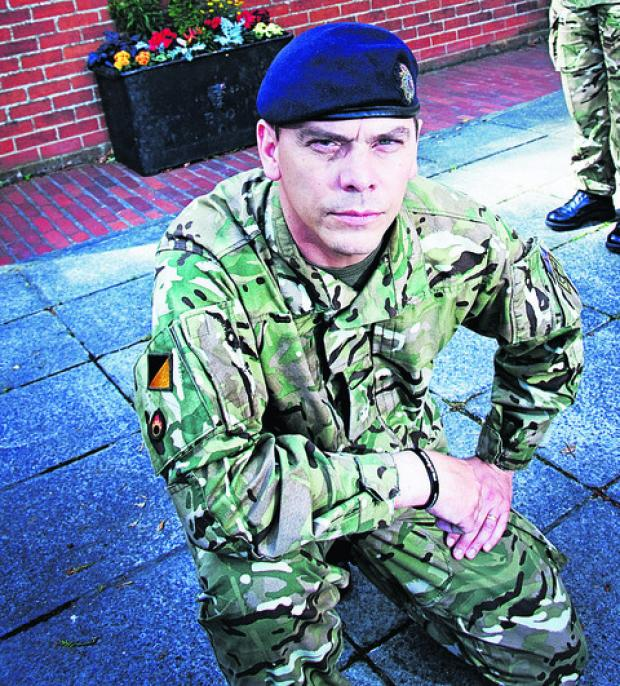 Bicester Advertiser: Maj Frankland pictured at Vauxhall Barracks, in Didcot