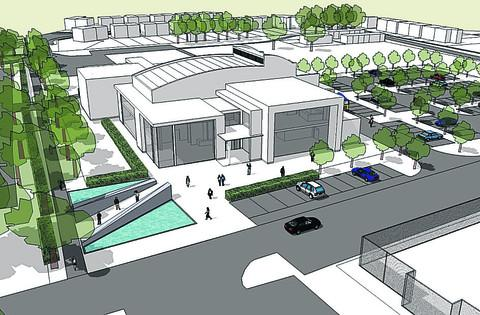 An artist's impression of what Bicester's proposed 400-seat theatre could look like