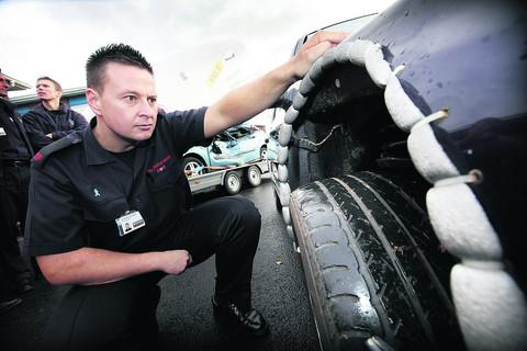 Firefighter Andy Durndell, pictured alongside the service's Kill U car