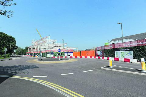 The new Sainsbury's store being built in the centre of Bicester