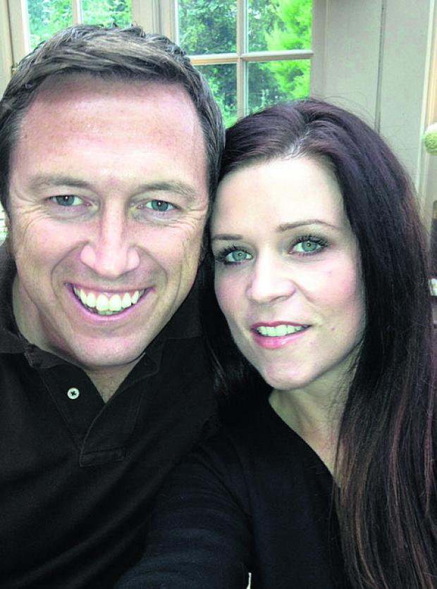 Bicester Advertiser: Janeé Parsons with her husband Andrew, who has been charged wi