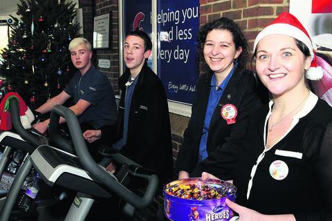 Store personnel manager Lisa Tofte, right, with, from left, Kieran Davies, Niall Riley and Nicola Moore. Picture: OX56123 Ric Mellis