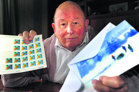 Bill Jupp says the cost of stamps is making it difficult for pensioners to afford to send Christmas cards. Picture: OX56237 Richard Cave