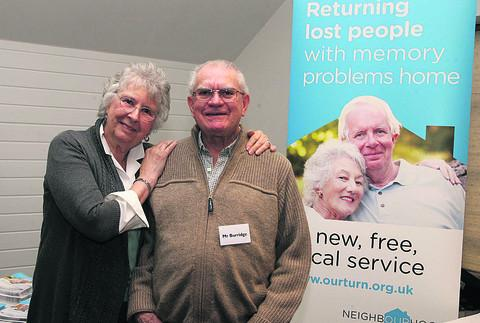 Jan Burridge and husband Ralph, who has dementia.