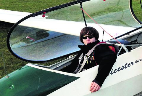 Bicester Advertiser: Callum Lavenders of Bicester Gliding Club