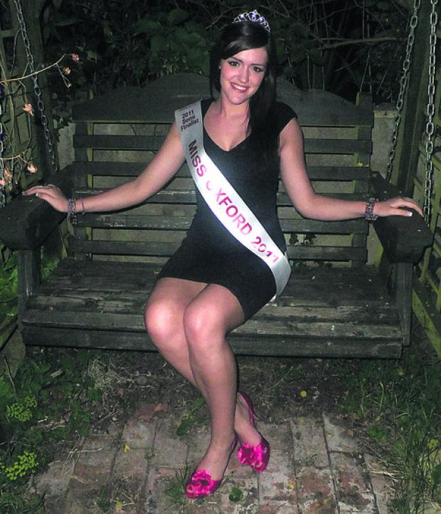 The current Miss Oxfordshire Kirsty Beer is entering this year's competition