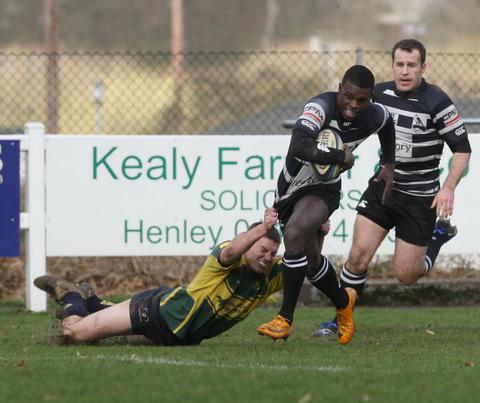 England Saxons wing Christian Wade in action for Chinnor