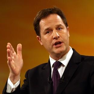 Nick Clegg said he was proud the Lib Dems took a 'big, collective and brave decision' to fix the economic mess and make society fairer