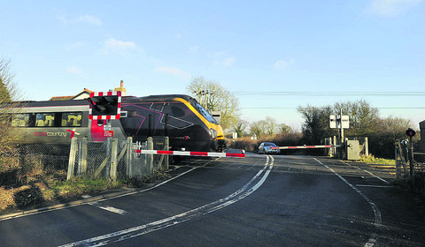 The Sandy Lane level crossing
