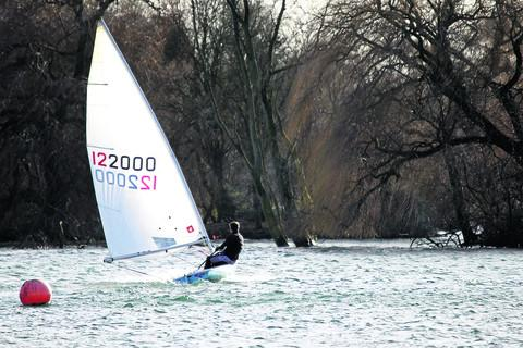 Dinghy sailing on Dorchester Lake