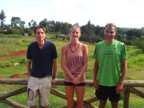 Oxon athletes (from left) Rob Webster, Hannah England and Paul Fernandez are training in Iten, Kenya