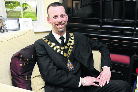 CIVIC DIGNITY: Bicester mayor Dan Sames wearing the current chain