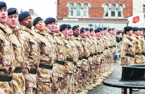 Troops from 12 Logistic Support Regiment, based in Abingdon, which is to be disbanded