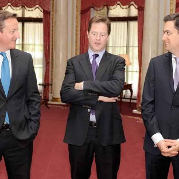 David Cameron, Nick Clegg and Ed Miliband are holding talks over the Leveson proposals for press reform