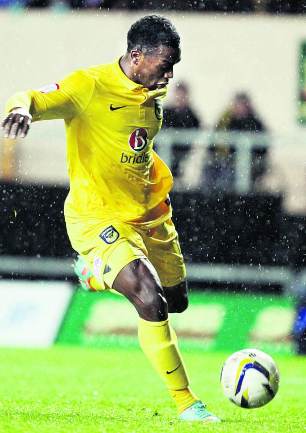 Jon-Paul Pittman hits the winner against Northampton in November