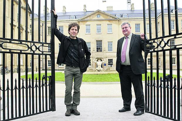 BALANCING ACT: Purcell senior architect Alain Torri with David Pendery at the revamped Radcliffe Infirmary