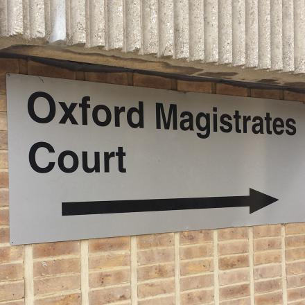 Oxford Magistrates Court where the youth appeared last month
