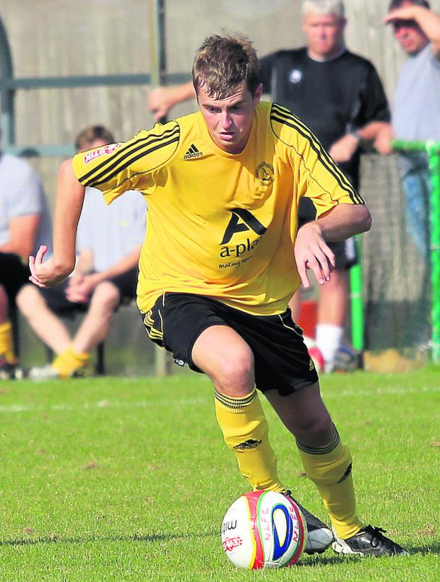 Bicester Advertiser: John Mills scored Didcot's goal in their 5-1 defeat at Merthyr