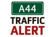 One lane closed on A44 after two cars crash
