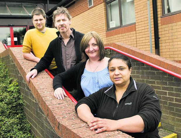 Neil Parker, Ian Pattison, Sophie Moss and Theresa Elliott of Barton Advice Centre