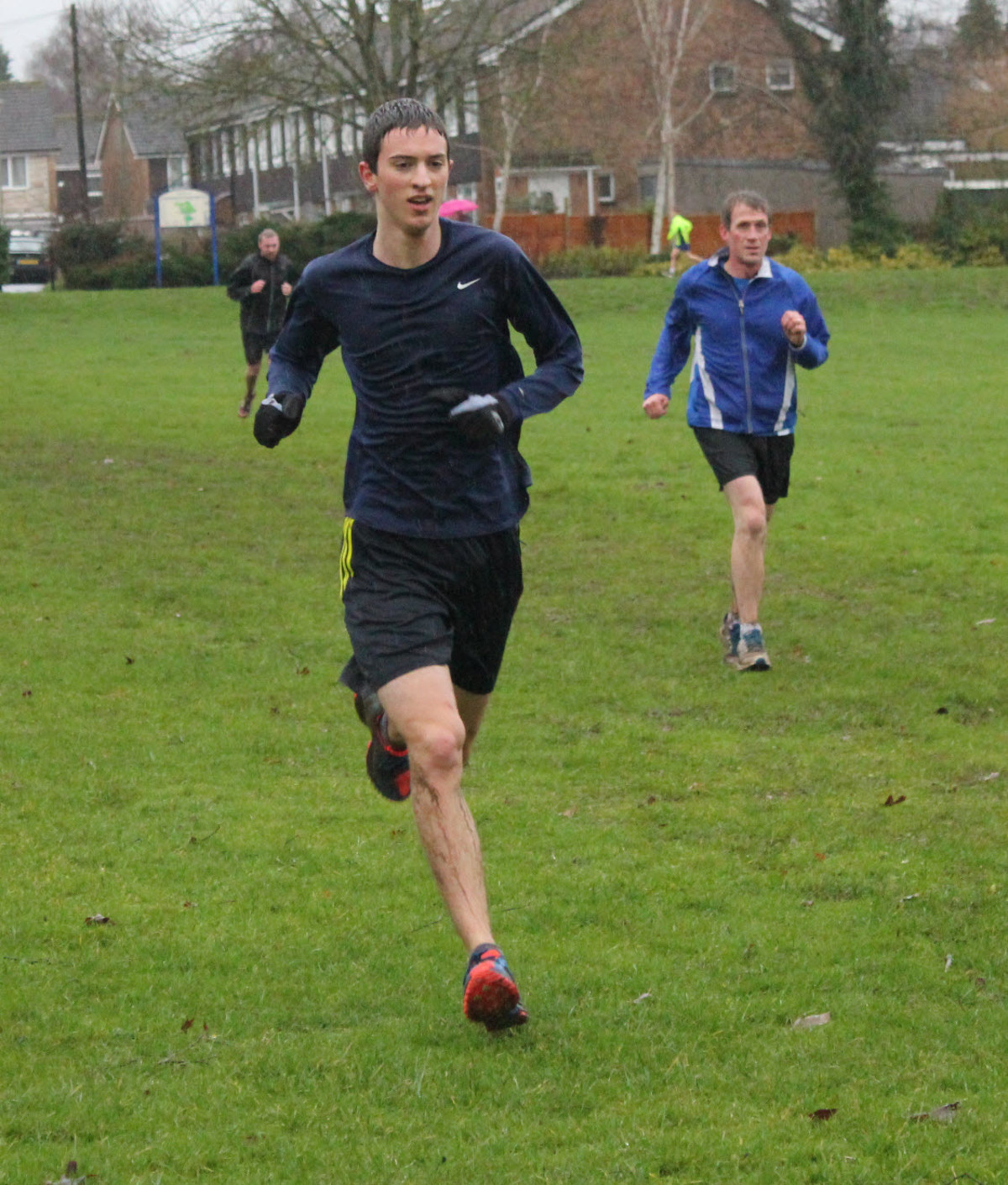 Oxford City's Matthieu Marshall wins a very soggy Oxford Parkrun             Picture: Rachel Antill