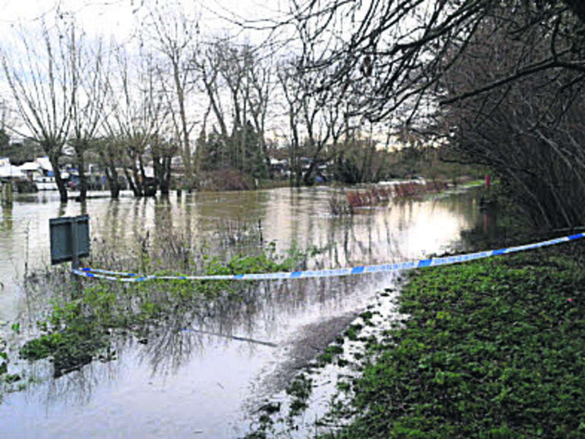 Police sealed off the towpath near Osney Lock after the incident