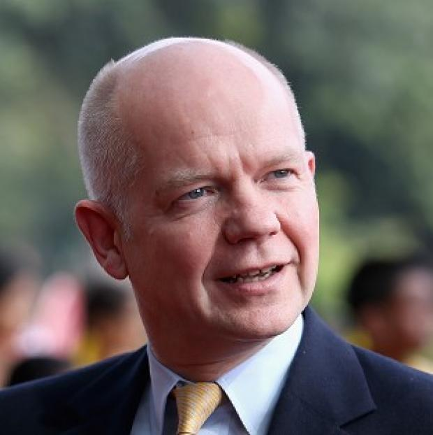 Bicester Advertiser: William Hague was challenged on 'very disturbing' exports of dual-use chemicals
