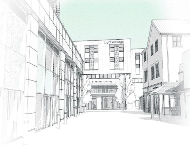 An artists impression of how the new building will look