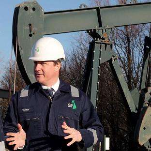 Prime Minister David Cameron visited the IGas shale drilling plant oil depot near