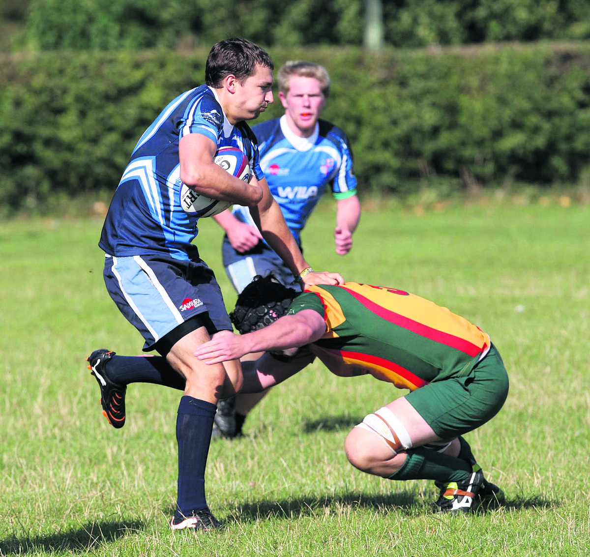 Robin Tyreman scored one of Alchester's tries in their 22-20 defeat at Drifters in Southern Counties North on Saturday